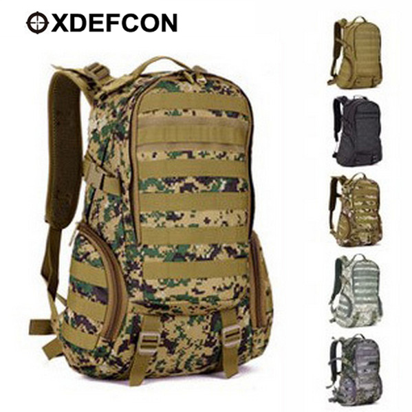 35L Waterproof Molle Backpack,Military Army 3P Gym School Trekking Ripstop Woodland Camping bags Tactical Gear