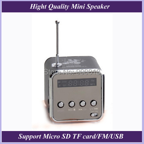 Portable Mini Aluminum Alloy USB Speaker Sound Amplifier Box FM Radio Support TF/SD Card - STRONGKING TEAM store