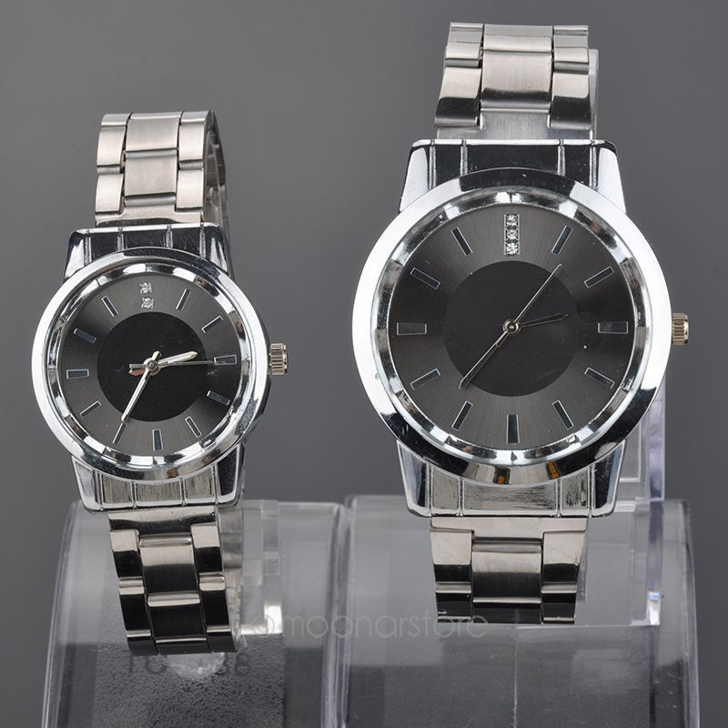 Luxury Brand Stainless Steel Watches Rhinestones Quartz Wrist Watches Couple Watch Fashion Timepieces Gift for Lovers MPJ554*60(China (Mainland))