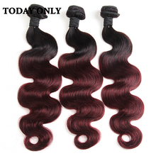 Buy Today Ombre Hair Extensions Ombre Brazilian Virgin Hair 1B/99j Ombre Brazilian Body Wave Ombre Brazilian Human Hair Bundles for $45.50 in AliExpress store