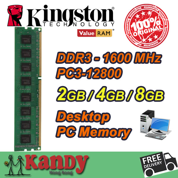 Kingston desktop memory RAM DDR3 2GB 4GB 8GB 1600MHz 240 Pin DIMM 1600 Non-ECC lot for Lenovo ThinkPad SONY Acer SAMSUNG Dell HP<br><br>Aliexpress