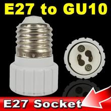 E27 Male to GU10 Female Socket Base Extender Splitter Plug Light Lamp Bulb Holder Adapter Fireproof Material Converter(China (Mainland))