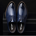 Large size US 6 5 12 5 Fashion formal mens dress shoes genuine leather black luxury