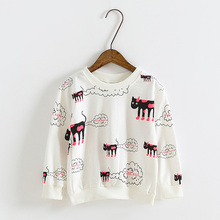 Free shipping  spring cartoon girls clothing baby child long-sleeve sweatshirt outerwear (China (Mainland))