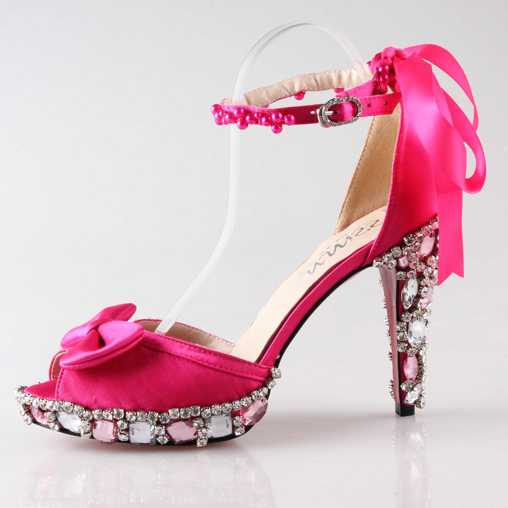 Fuschia Pink High Heels