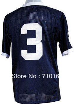 Free Shipping  Penn State Nittany Lions 3 Navy Blue College Football Jersey   mix order