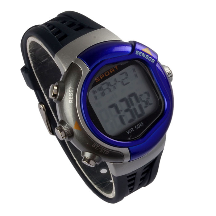 Modern Unisex Fitness Heart Rate Monitor Sports Watch Calories Counter LED Degital Watches 5 Colors Fast Shipping Jul15(China (Mainland))