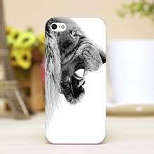 pz0012-28 terrible lion Design Customized cellphone transparent cover cases for iphone 4 5 5c 5s 6 6plus Hard Shell