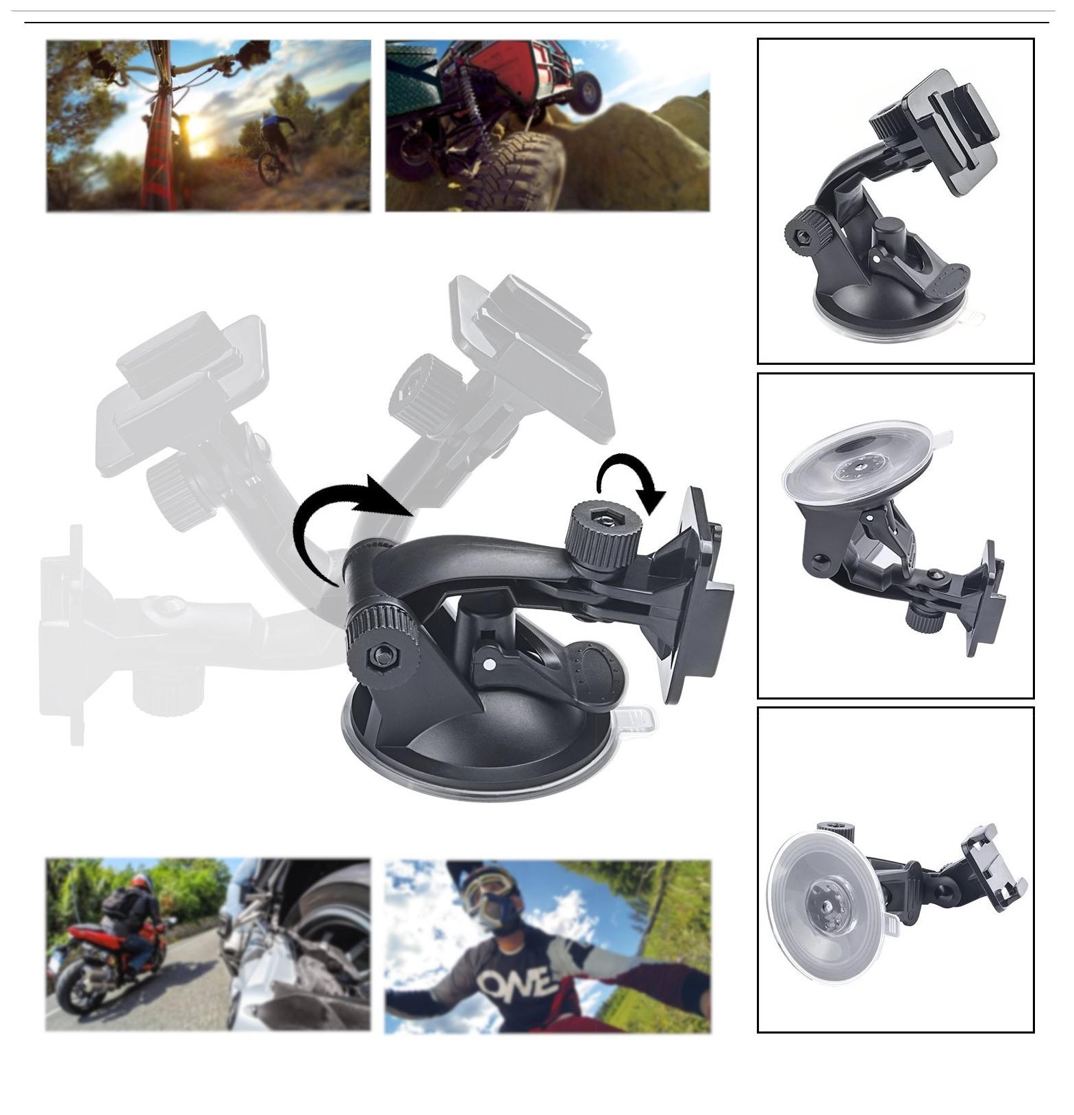 Go pro Accessories Set Three-way mini tripod monopod Flat Mount For Gopro Hero 4 3 SJ4000 SJCAM xiaomi yi action camera GS11