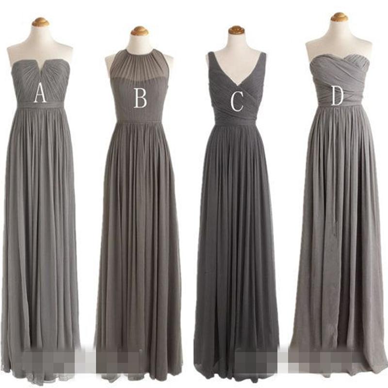 Popular Charcoal Bridesmaid Dress Long Buy Cheap Charcoal