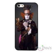 Mad Hatter Alice In Wonderland Johny back skins mobile cellphone cases for iphone 4/4s 5/5s 5c SE 6/6s plus ipod touch 4/5/6