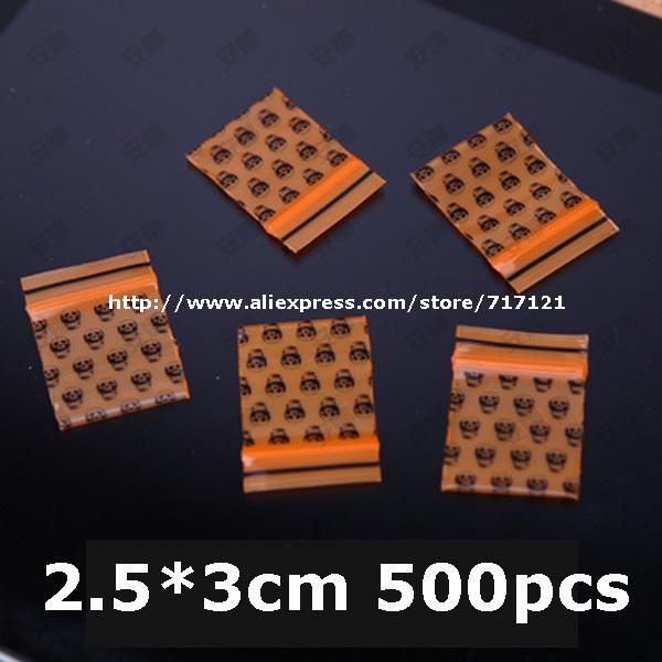 wholesale super small ziplock bag printed zip lock plastic bags 2.5x3cm 1''x1.2'' mini plastic bags 500pcs free shipping(China (Mainland))