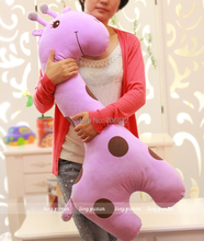 about 100cm spotted giraffe plush toy throw pillow sleeping pillow birthday gift t6001