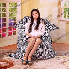 FREE SHIPPING 140*180CM zebra-stripe bean bags for sale 100% cotton living room bean bags large bean bag chair