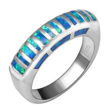 Горячие Продажи Изысканный Blue Fire Opal 925 Стерлингового Серебра Хорошего Качества Красивые Ювелирные Изделия Кольца Размер 6 7 8 9 F1557(China (Mainland))