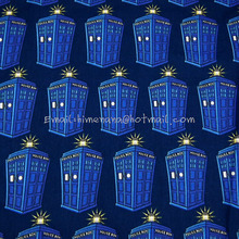 Buy dr010 1 Yard Cotton Woven Fabric Doctor Packed Tardis, Dr. BBC Police Box Navy Blue, W105 for $10.00 in AliExpress store