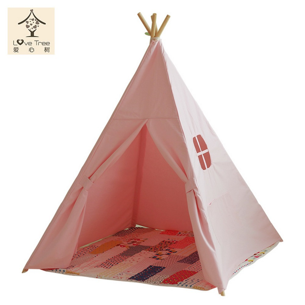 teepee enfants diy jouer enfant play house jouet tente indiens teepee ch teau pur rose style. Black Bedroom Furniture Sets. Home Design Ideas