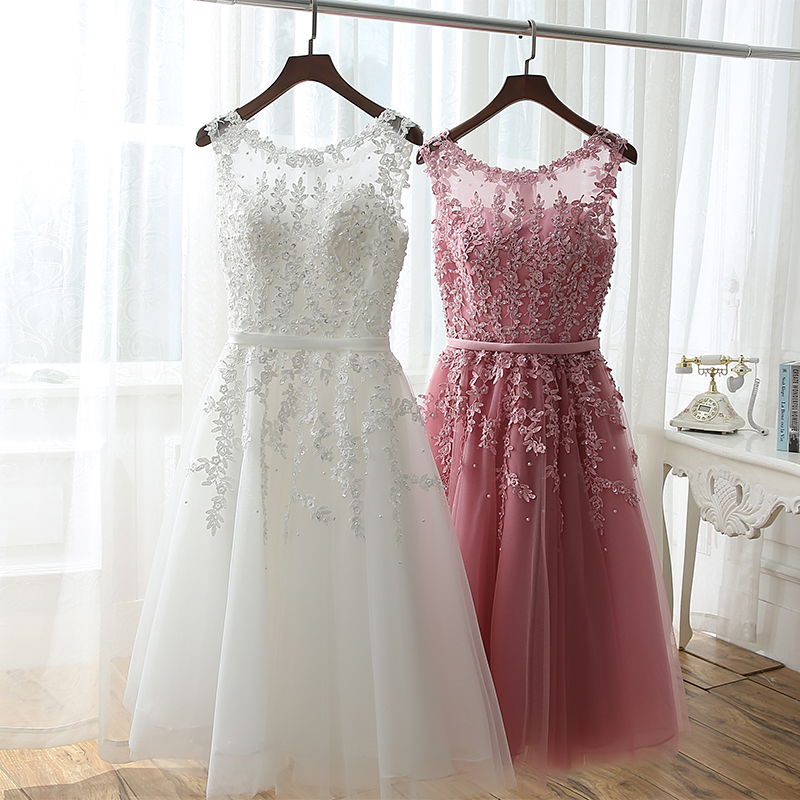 Free Shipping Vestidos Noiva 2016 Pink Short Lace Wedding Dress Real Photo Plus Size Wedding Gowns Robe de Mariee Sirene(China (Mainland))