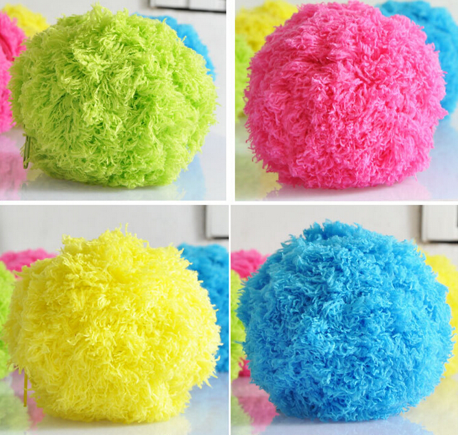 1 Pieces/lot Mini Robot Floor Cleaner / Microfiber Mop Ball MOCORO,Each Ball in One Retail Box With 4 Colors Covers(China (Mainland))
