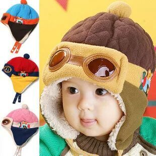 2016 new style Hot sales Toddlers Cool Baby Boy Girl Kids Infant Winter Pilot Warm Cap Hat Beanie fashion cute(China (Mainland))