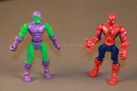New 2pcs Marvel Super Hero Mashers Spider-man and Green Goblin Figure 6 Inches