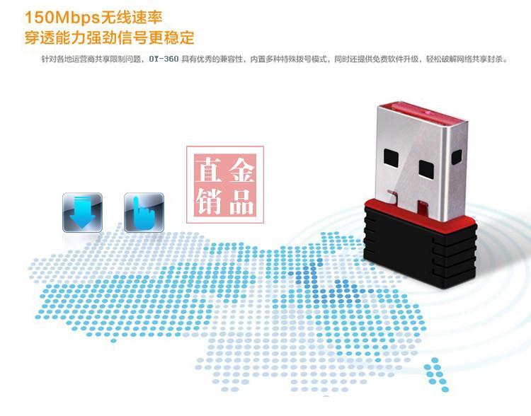 MT7601 Mini USB WiFi Adapter 802.11n Antenna 150Mbps Wireless Network Card External USB WiFi Ethernet Adapter for Desktop Laptop