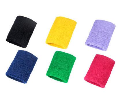 2015 Newest 5 x Cotton Sports Sweatband Wristband Wrist Brace Support Tennis Badminton Gym Unisex With 6 Colors FREE SHIPPING(China (Mainland))
