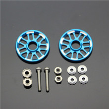 MINI 4WD  Aluminum 19mm Snow Shaped Rollers Self-made Parts Tamiya MINI 4WD 19mm Colored Aluminum Guide -Wheel D012  2Sets/lot(China (Mainland))
