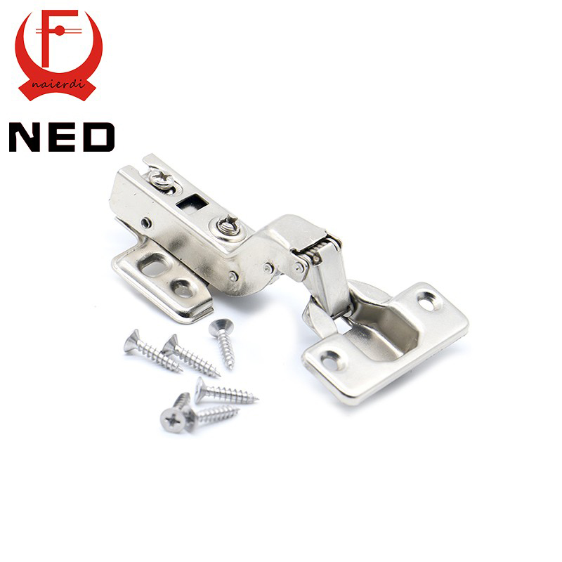 10PCS NED C Series Full Size Hinge Iron Door Hydraulic Hinges Damper Buffer Soft Close For Cabinet Cupboard Furniture Hardware(China (Mainland))