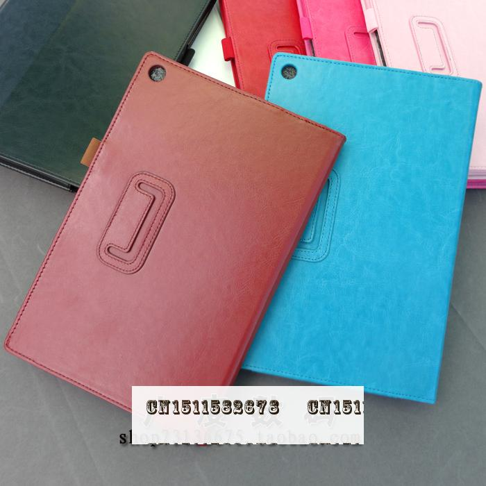 2015 New Arrival Leather 10.1 For Sony Protective Shell/skin Fashion Solid Tablets & E-books Case+film+stylus free shipping/1pcs(China (Mainland))