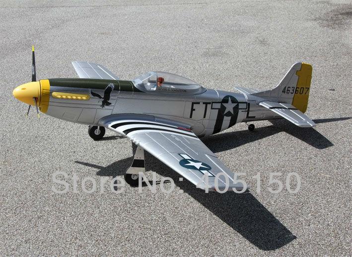 No Battery, Dynam 1200mm P51 Mustang Radio Control Airplane RTF with Retract(Hong Kong)