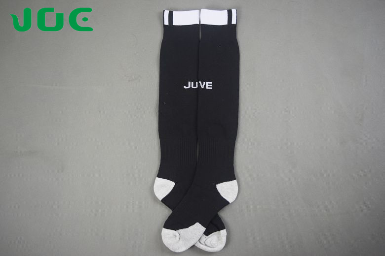 [Joe] Men's Best Quality Juventus Home Black Soccer Sock 2016-17, Towel Bottom Sweat conduction(China (Mainland))