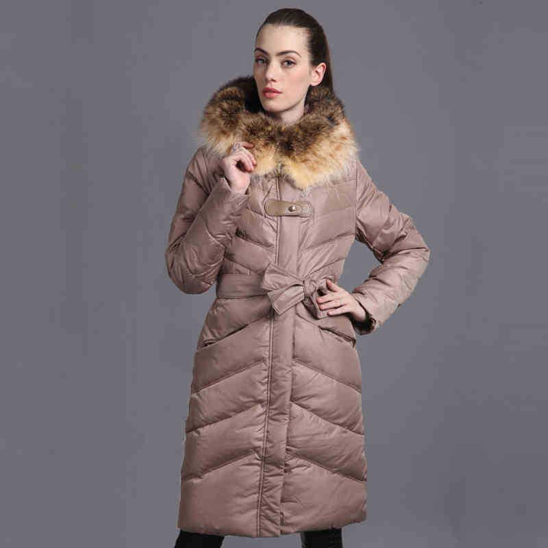 2014 new womens winter luxury American raccoon drift golden collar long Detachable hood Outerwear jacket coat coldОдежда и ак�е��уары<br><br><br>Aliexpress