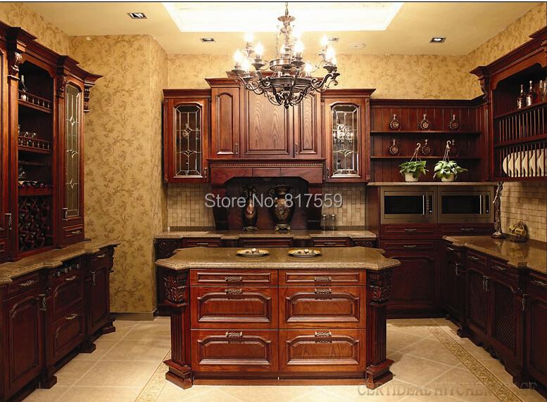 antique solid wood kitchen cabinet,modern kitchen cabinet 0409-a2(China (Mainland))
