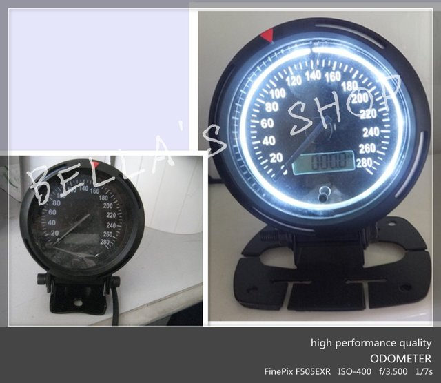 3.75 inch odometer /speedometer/mph automotive  instrument gauge/meter  WHITE LED illuminance