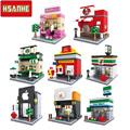 HSANHE Mini Architecture marvel legon city blocks magformers playmobil enlighten decool duplo castle forge world sluban