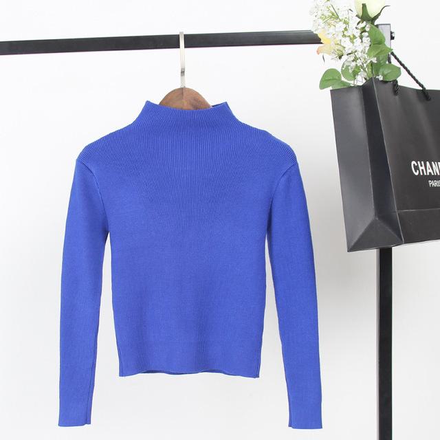 6 цвета женская свитер с длинными рукавами вязаные топы короткие культур пуловеры