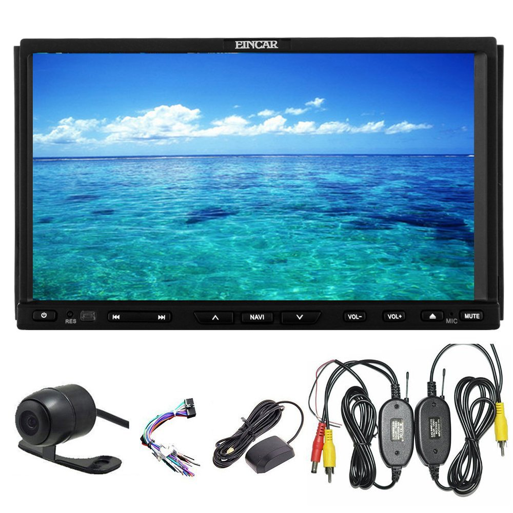 Wireless backup Camera Car DVD Double2 Din 7 inch Car Stereo Capacitive Multi-touch Screen Car GPS Navi Navigation Bluetooth(China (Mainland))