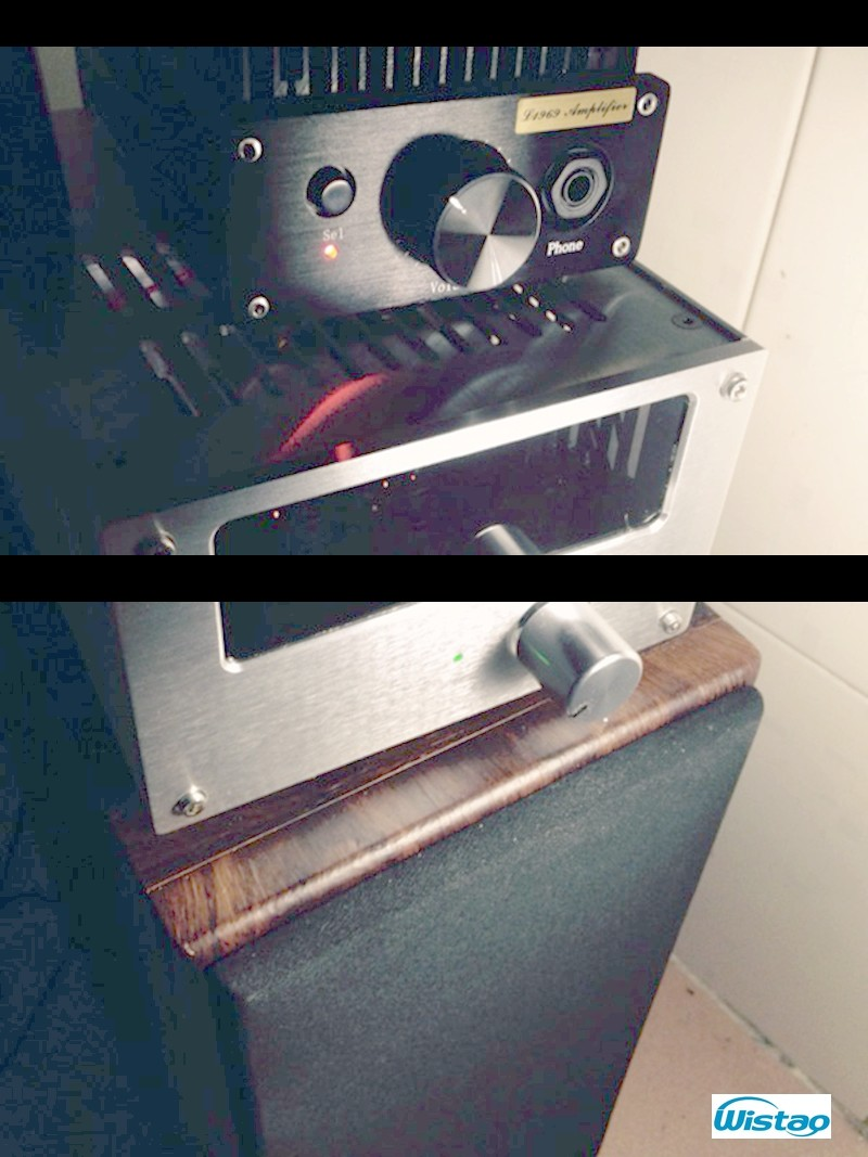 IWISTAO HIFI Amplifier Pure Class A 2X8W IWISTAO Combined Headphone Amp Desktop Hood 1969 Circuit Whole Aluminum Case Audio