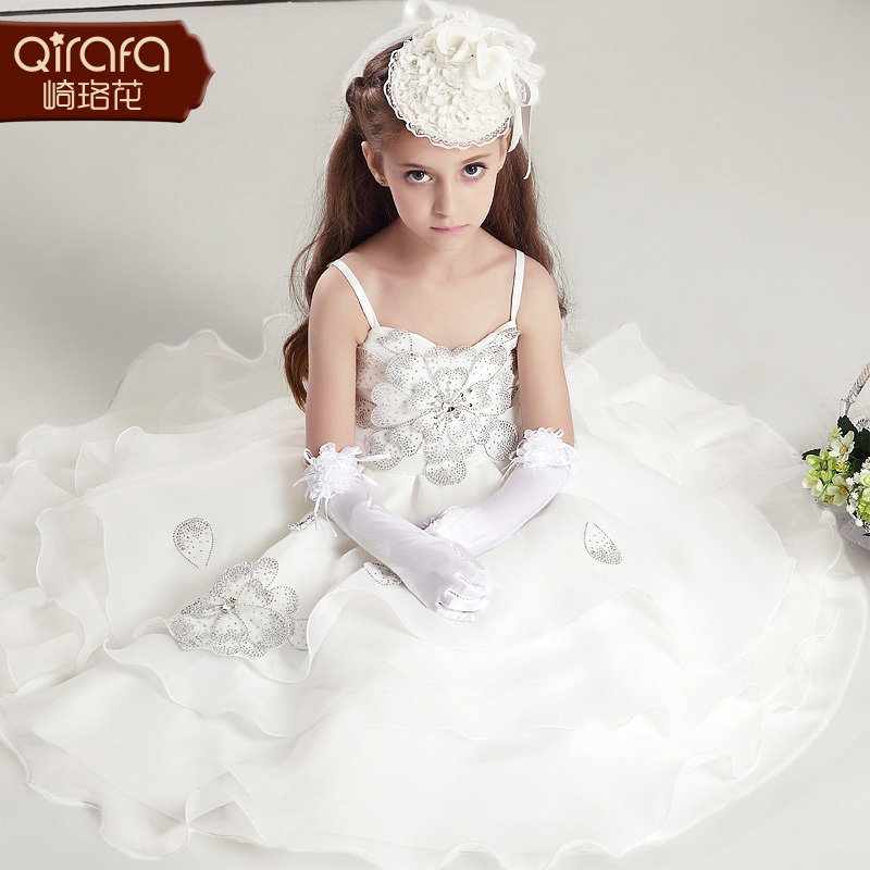 Free shipping 2015 new cute noble casual children wedding for Cute white wedding dresses