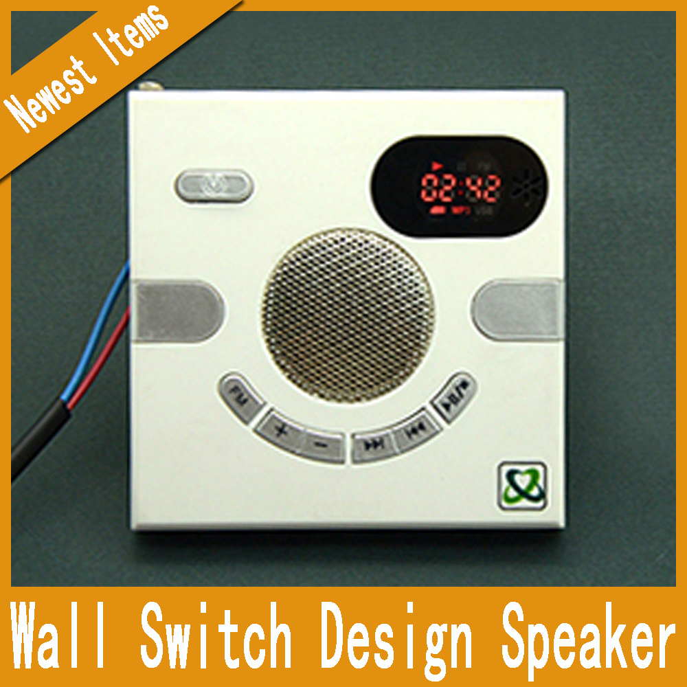 Smart Wall Socket Speaker Home Audio USB Charging Jack Wall FM Radio Household Outlet Memory Card Player Headphone Receivers(China (Mainland))