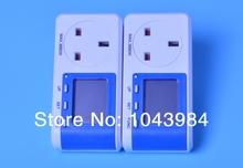 Compras libres 2 unids Power energy Watt voltaje amp digital medidor de potencia analizador con carbono emisiones display reino unido plug
