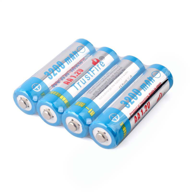 TrustFire 4x AA 3200mAh Ni-MH Rechargeable Battery 1.2V ECOS #53974(China (Mainland))