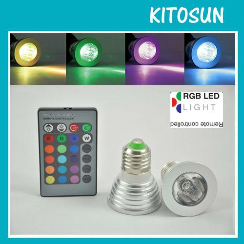 Free shipping!!! Wholesale 5W RGB Multi-colors AC100-240V E27 Screw scoket Spot LED Light Event&party supplies led Flash light(China (Mainland))