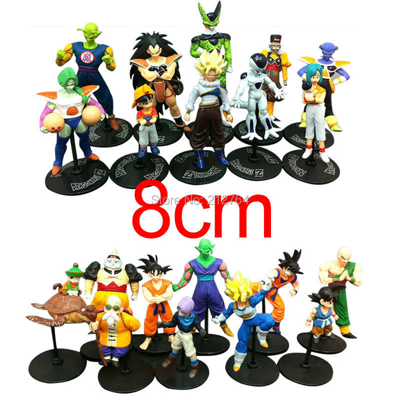 20pcs/set Dragon Ball Z GT Action Figures Crazy Party 8CM Cell/Freeza/Goku PVC Collectible Model Toy Dragonball Figure Best Gift(China (Mainland))