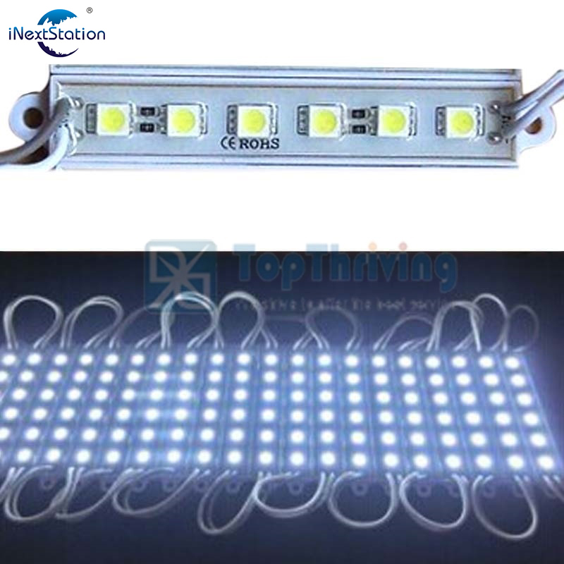 5050 SMD 6 LED Module White Light Bulbs Waterproof IP65 DC12V Bright Lamp for Advertisement Design(China (Mainland))