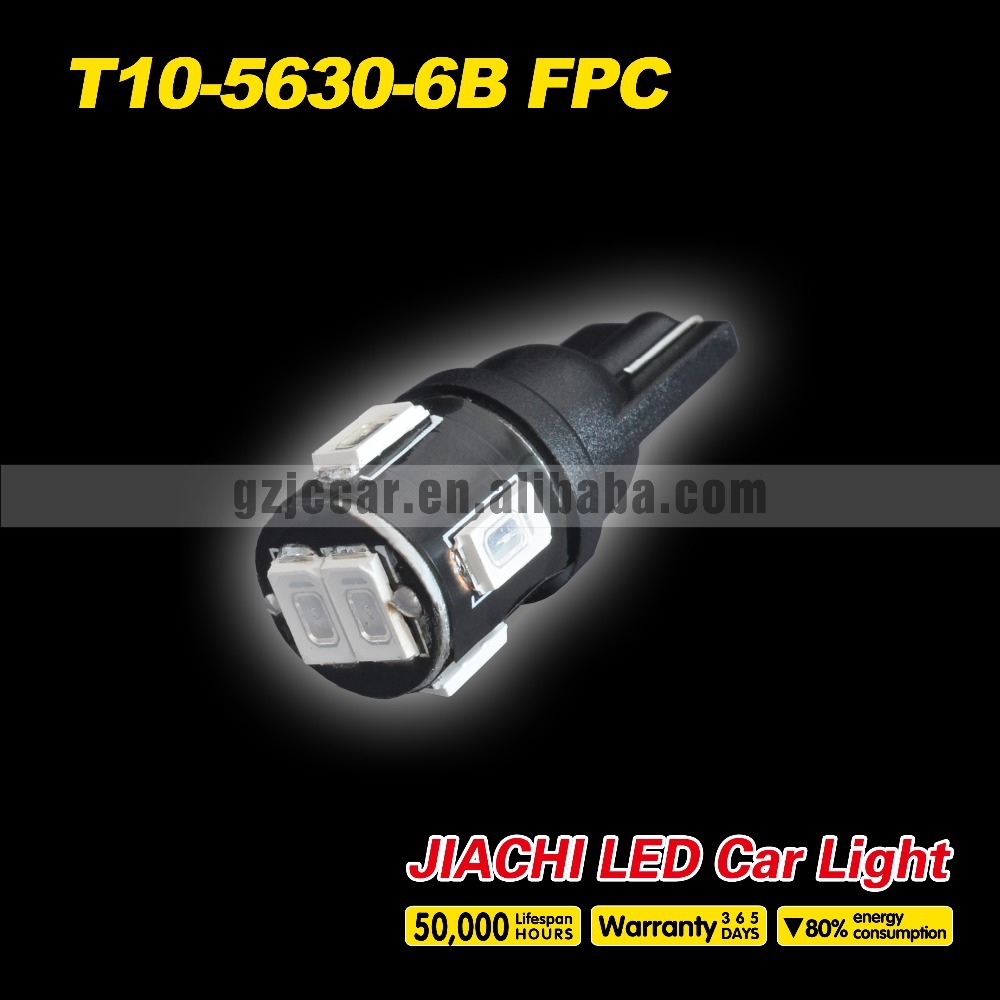2015 new design high lumens best quality,100pcs/lot 12 volt w5w t10 5630 6smd led interior indicator light high power products(China (Mainland))