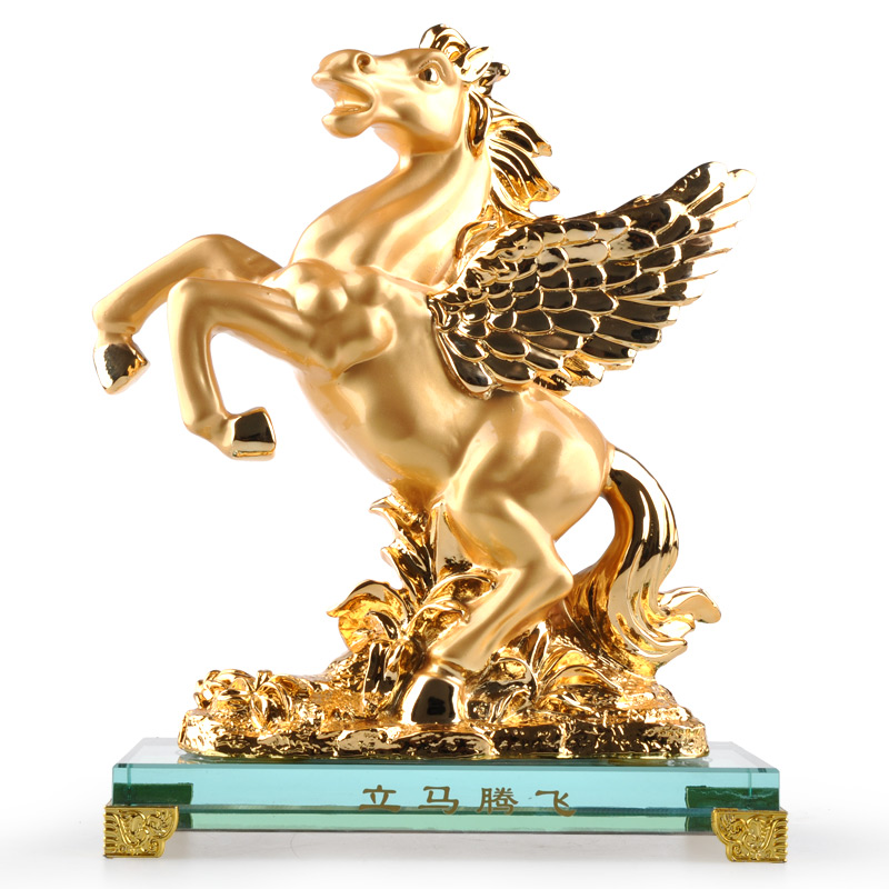 Zodiac horse artware home decoration crafts business gift new year Christmas birthday gift(China (Mainland))