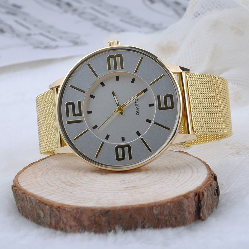 High Quality Gold Mesh Strap Watch Can Foil More Female Charm, Fashion Women's Clothing Collocation Watches Y20*MHM385#M2(China (Mainland))