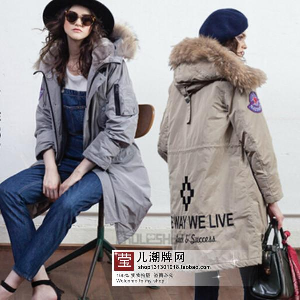TOP quality new 2015 winter jacket coat womens parkas army green Large raccoon fur collar hooded woman outwear loose clothingОдежда и ак�е��уары<br><br><br>Aliexpress